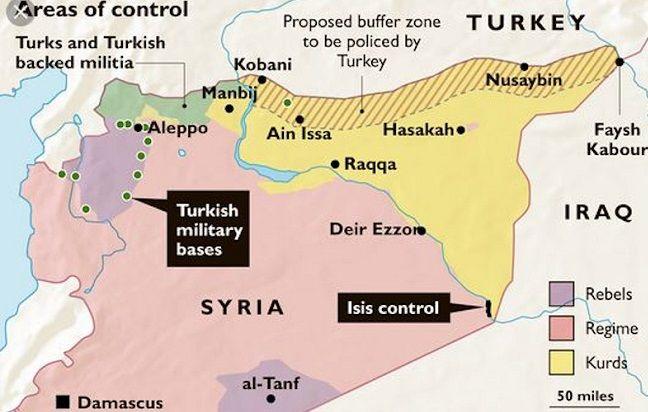 Χάρτης από τους Times: Οι δυνάμεις ανά περιοχή στη Συρία