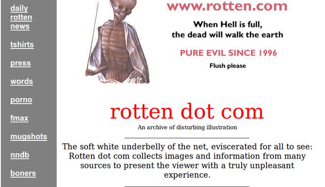 Έκλεισε το rotten.com - Ποιο ήταν το πιο 'σάπιο' site του διαδικτύου