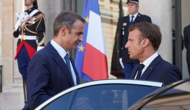 Συνάντηση του Πρωθυπουργού Κ. Μητσοτάκη με τον Προεδρο της Γαλλικης Δημοκρατιας Εμανουελ Μακρον στο Παρίσι.