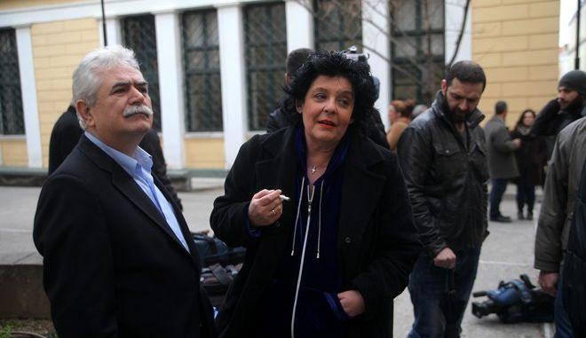 Δίκη του βουλευτή της Χρυσής Αυγής Ηλία Κασιδιάρη, την Παρασκευή 6 Μαρτίου 2014, για την υπόθεση ξυλοδαρμού της βουλευτή του ΚΚΕ Λιάνας Κανέλη το 2012 σε τηλεοπτικό στούντιο. (EUROKINISSI/ΚΩΣΤΑΣ ΚΑΤΩΜΕΡΗΣ)