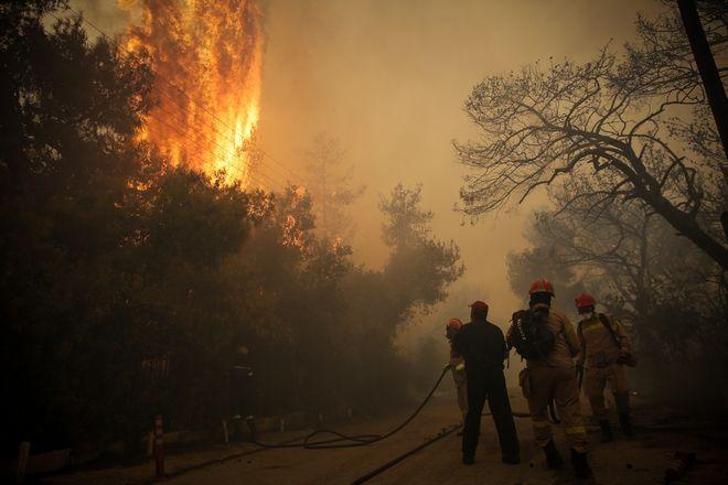 Πυρκαγιά στην περιοχή της Κινέτας.