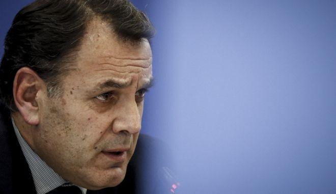 Συνέντευξη τύπου, από την εκπρόσωπο τύπου της Νέας Δημοκρατίας, Μαρία Σπυράκη και τους τομεάρχες Εσωτερικών, Μάκη Βορίδη και Δικαιοσύνης, Νίκο Παναγιωτόπουλο(φωτό) για την υπόθεση Νovartis, μετά και την πρόταση της κυβερνητικής πλειοψηφίας για σύσταση προκαταρκτικής επιτροπής, την Τρίτη 13 Φεβρουαρίου 2018. (EUROKINISSI/ΓΙΩΡΓΟΣ ΚΟΝΤΑΡΙΝΗΣ)