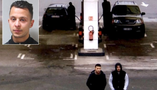 Paris shooting suspect, Salah Abdeslam, and suspected accomplice, Hamza Attou, are seen at a petrol station on a motorway between Paris and Brussels, in Trith-Saint-Leger, France in this still image taken from a November 14, 2015 video provided by BFMTV on January 11, 2016.  REUTERS/BFMTV via Reuters TV ATTENTION EDITORS - THIS PICTURE WAS PROVIDED BY A THIRD PARTY. REUTERS IS UNABLE TO INDEPENDENTLY VERIFY THE AUTHENTICITY, CONTENT, LOCATION OR DATE OF THIS IMAGE. FOR EDITORIAL USE ONLY. NOT FOR SALE FOR MARKETING OR ADVERTISING CAMPAIGNS. THIS PICTURE IS DISTRIBUTED EXACTLY AS RECEIVED BY REUTERS, AS A SERVICE TO CLIENTS. NO RESALES. NO ARCHIVE. FRANCE OUT. NO COMMERCIAL OR EDITORIAL SALES IN FRANCE. BELGIUM OUT. NO COMMERCIAL OR EDITORIAL SALES IN BELGIUM