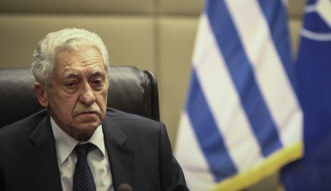 Ο αναπληρωτής υπουργός Άμυνας, Φώτης Κουβέλης