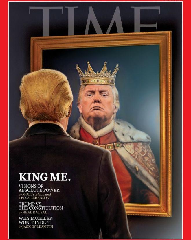 Ο ''βασιλιάς'' Τραμπ στο εξώφυλλο του Time