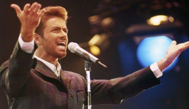 Ο Τζορτζ Μάικλ στη συναυλία της ελπίδας, ανήμερα της Παγκόσμιας Ημέρας κατά του AIDS, τον Δεκέμβριο του 1993