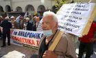 Στιγμιότυπο από διαμαρτυρία συνταξιούχων