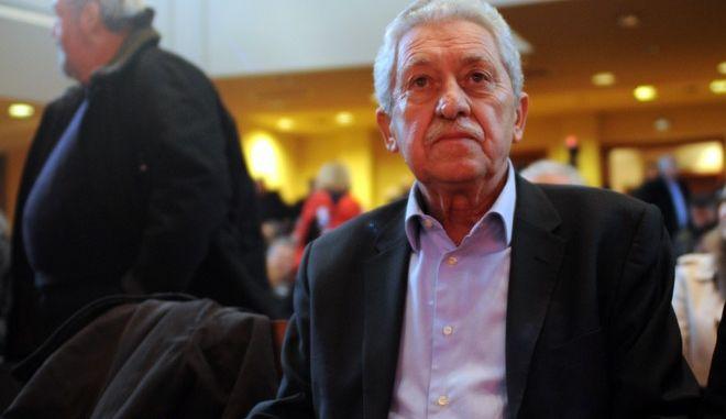 Ο πρόεδρος της Δημοκρατικής Αριστεράς Φώτης Κουβέλης στην συνεδρίαση της Κεντρικής Επιτροπής και του Διαρκούς Συνεδρίου της ΔΗΜΑΡ με θέμα την εκλογική τακτική του κόμματος το Σάββατο 3 Ιανουαρίου 2014. (EUROKINISSI/ΑΝΤΩΝΗΣ ΝΙΚΟΛΟΠΟΥΛΟΣ)