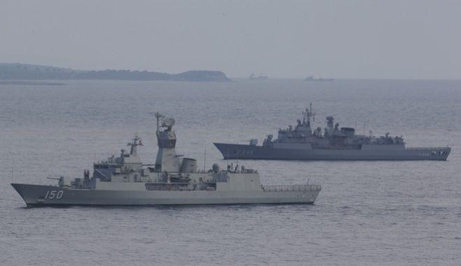 Τουρκικά πολεμικά πλοία στη Μεσόγειο