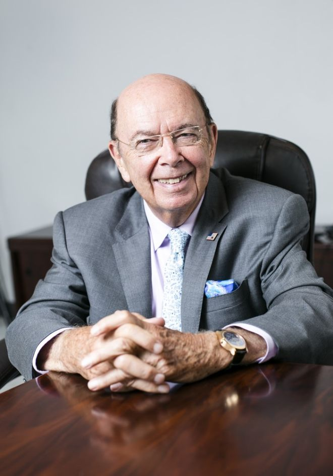 Wilbur L. Ross Jr., Chairman and Chief Strategy Officer at WL Ross & Co., in Chelsea, Manhattan, on Sept. 2, 2015. (Samira Bouaou/Epoch Times)