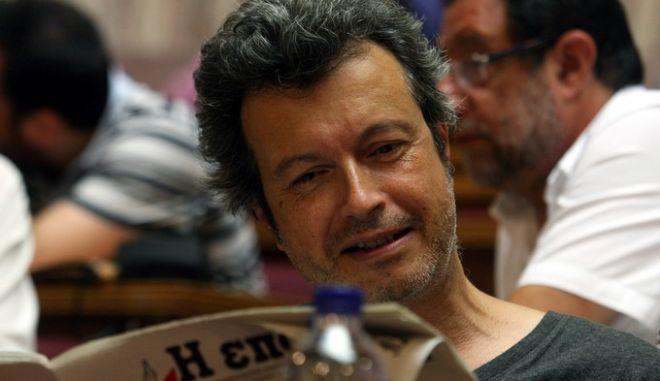 Συνεδρίαση της Κοινοβουλευτικής ομάδας του ΣΥΡΙΖΑ,στην φωτογραφία ο Πέτρος Τατσόπουλος   Δευτέρα 23 Ιουλίου 2012.  (EUROKINISSI/ΤΑΤΙΑΝΑ ΜΠΟΛΑΡΗ)