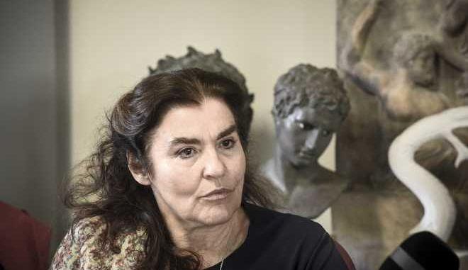 Συνέντευξη τύπου της υπουργού Πολιτισμού και Αθλητισμού, Λυδία Κονιόρδου, στα Εργαστήρια Εκμαγείων και Αντιγράφων του Ταμείου Αρχαιολογικών Πόρων και Απαλλοτριώσεων (ΤΑΠ), με θέμα τους άξονες στρατηγικής ανάπτυξης του ΤΑΠ την Τετάρτη, 17 Ιανουαρίου 2018. (EUROKINISSI/ΤΑΤΙΑΝΑ ΜΠΟΛΑΡΗ)