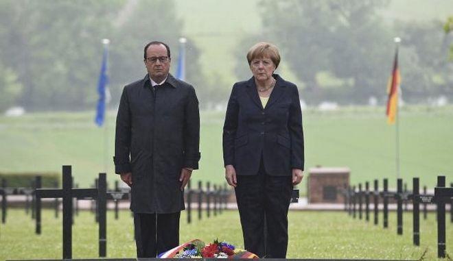 Μέρκελ και Ολάντ τίμησαν την 100η επέτειο της Μάχης του Βερντέν