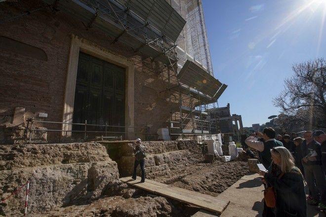 Το σημείο όπου βρέθηκε η σαρκοφάγος που εκτιμάται ότι ανήκει στον ιδρυτή της Ρώμης Ρωμύλο