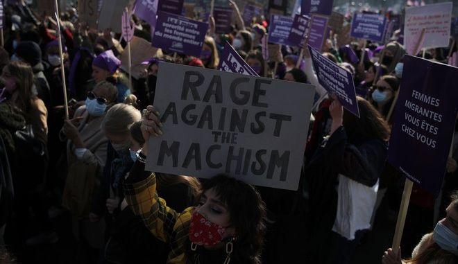 Διαδήλωση στο Παρίσι για την Παγκόσμια Ημέρα της Γυναίκας