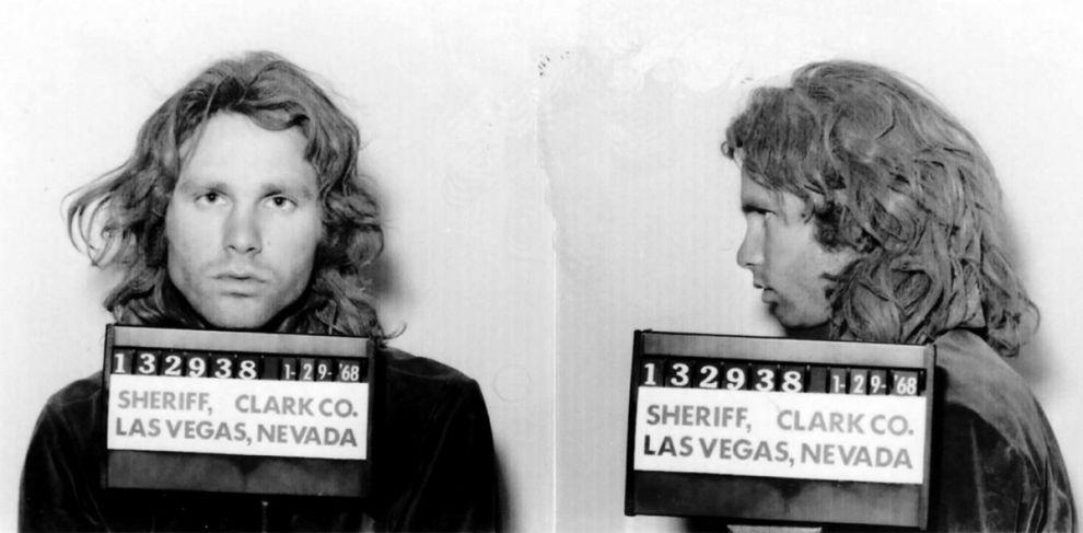 Η φωτογραφία μετά τη σύλληψη του Morrison, στο Λας Βέγκας, στις 28/1 του 1968.