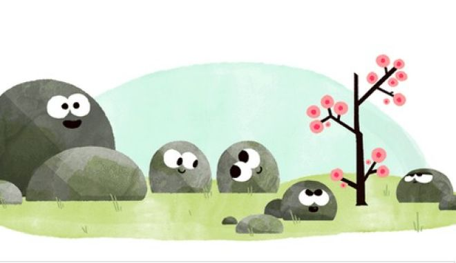 To Google Doodle καλωσορίζει την άνοιξη