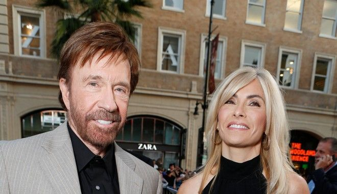 HOLLYWOOD, CA - AUGUST 15:  Chuck Norris and Gena O'Kelly at Lionsgate World Premiere Of