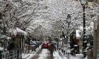 Χιόνια στο κέντρο της Θεσσαλονίκης