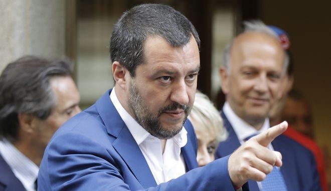 Ο Ιταλός Υπουργός Εσωτερικών, Ματέο Σαλβίνι