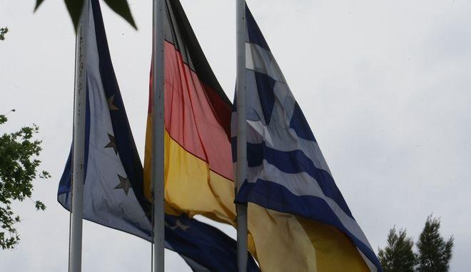 Σημαίες Ελλάδας και Γερμανίας.