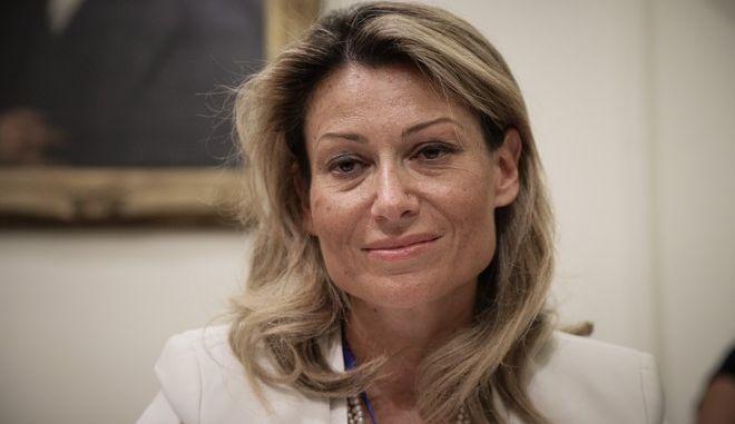 H πρόεδρος της Επιτροπής Κεφαλαιαγοράς Βασιλική Λαζαράκου