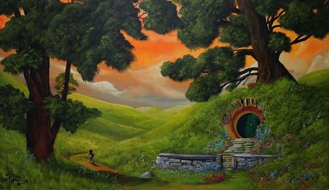 Ταξίδι στον κόσμο του Τόλκιν με το πινέλο Έλληνα ζωγράφου