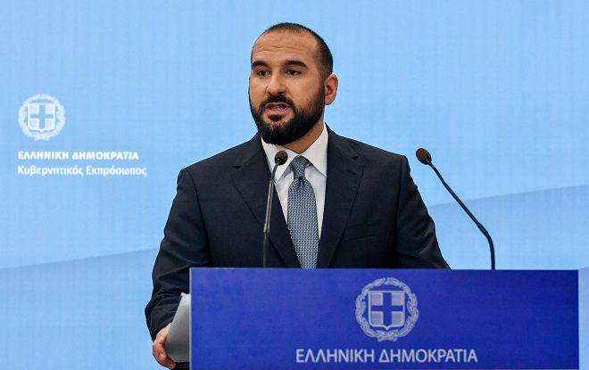 Ενημέρωση των πολιτικών συντακτών από τον κυβερνητικό εκπρόσωπο Δημήτρη Τζανακόπουλο, Τρίτη 9 Απριλίου 2019.