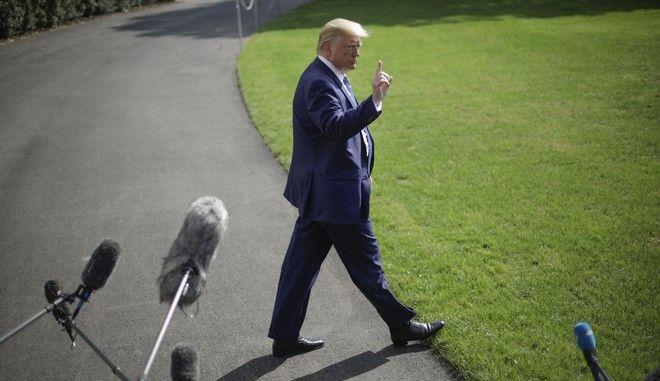 Ο Αμερικανός πρόεδρος Ντόναλντ Τραμπ στον Λευκό Οίκο