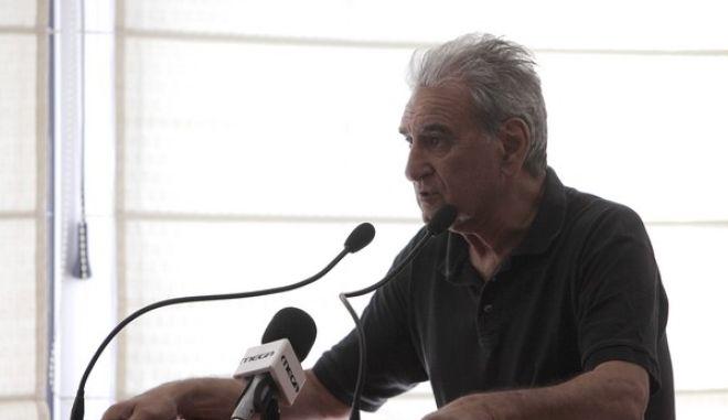 Συνεδρίαση της ΚΕ της Δημοκρατικής Αριστεράς το Σάββατο 29 Ιουνίου 2013. Η Κεντρική Πολιτική Επιτροπή της ΔΗΜΑΡ,  συνεδρίασε προκειμένου να καθοριστεί το πολιτικό πλαίσιο με το οποίο θα πορευτεί το κόμμα, μετά την αποχώρηση του από την κυβέρνηση. Η συνεδρίαση ξεκίνησε, με εισήγηση του προέδρου του κόμματος Φώτη Κουβέλη. (EUROKINISSI/ΓΕΩΡΓΙΑ ΠΑΝΑΓΟΠΟΥΛΟΥ)