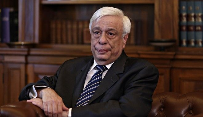 Meeting between the Greek President Prokopis Pavlopoulos and the Mayor of Athens Giorgos Kaminis , in Athens on June 06, 2016 /     ,           ,  6 , 2016