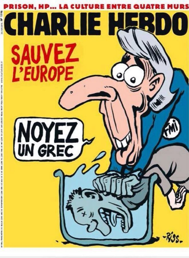 Charlie Hebdo: Σώστε την Ευρώπη, πνίξτε έναν Έλληνα