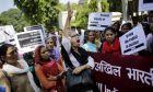 Ακτιβίστριες της Ένωσης Ινδιών Δημοκρατικών Γυναικών