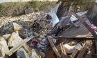 Εικόνα από βομβαρδισμένη πόλη στο Ναγκόρνο Καραμπάχ