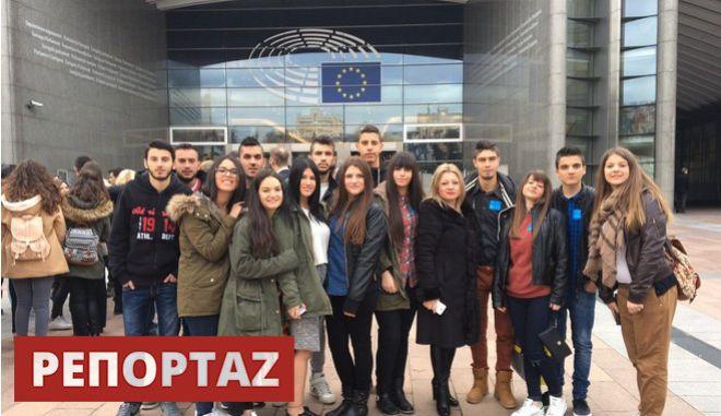 Μαθητές Λυκείου από το Ραπτόπουλο εγκλωβισμένοι στο ευρωκοινοβούλιο. Το NEWS 247 σε απευθείας σύνδεση