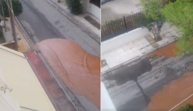 Δείτε βίντεο: Πώς ο στεγνός δρόμος γίνεται ποτάμι σε λίγα δευτερόλεπτα
