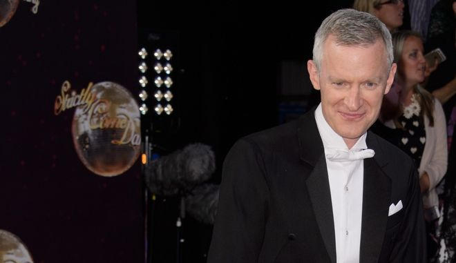 Jeremy Vine poses for photographers at the Strictly Come Dancing 2015 launch event at Elstree Film Studios, London, Tuesday, Sept. 1, 2015. (Photo by Jonathan Short/Invision/AP)