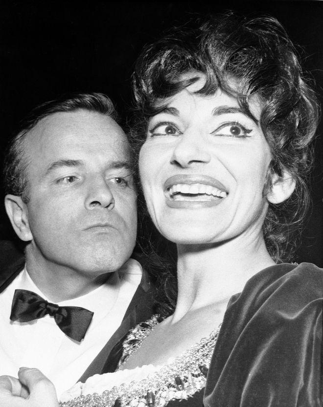 Φράνκο Τζεφιρέλι με τη Μαρία Κάλλας το 1964