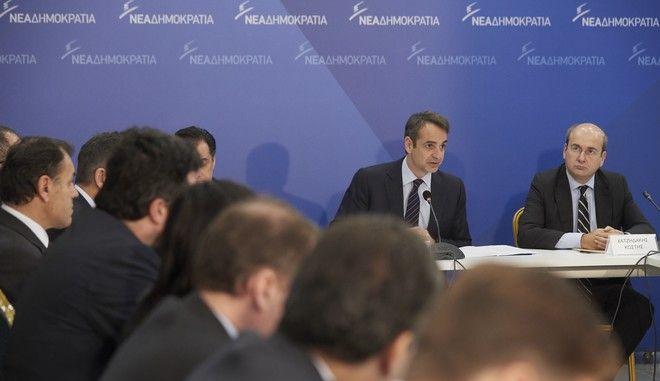 Στιγμιότυπα από την εισήγηση του Προέδρου της Νέας Δημοκρατίας κ. Κυριάκου Μητσοτάκη στη συνεδρίαση των Τομεαρχών του Κόμματος, σήμερα, Τρίτη 28 Νοεμβρίου 2017 (EUROKINISSI / Γ.Τ. ΝΔ / Δημήτρης Παπαμήτσος)