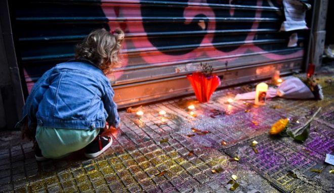 Στιγμιότυπο από πορεία διαμαρτυρίας, για τον θάνατο του Ζακ Κωστόπουλου