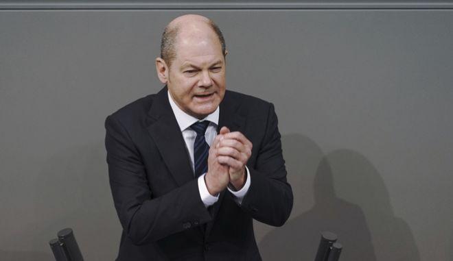 O υπουργός Οικονομικών της Γερμανίας, Όλαφ Σολτς