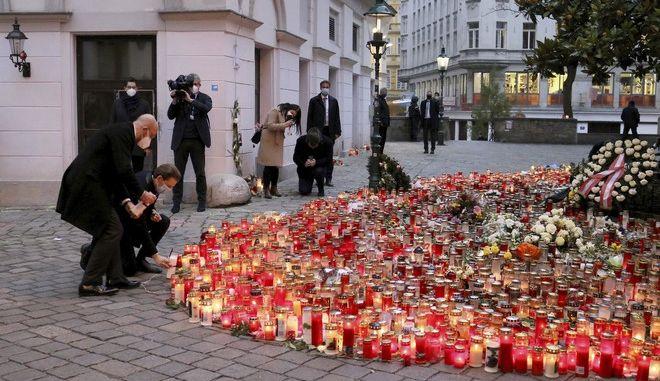 Το σημείο όπου έγινε η αιματηρή επίθεση στη Βιέννη