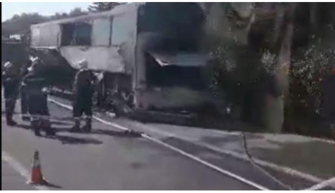 Φωτιά σε τουριστικό λεωφορείο στο Λασίθι