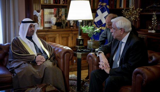 Συνάντηση του Προέδρου της Δημοκρατίας Προκόπη Παυλόπουλου με τον υπουργό Οικονομικών του Κουβέιτ, Dr. Nayef Falah Al Hajraf