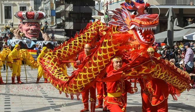 Στιγμιότυπο από το καρναβάλι της Πάτρας. Φωτο αρχείου.