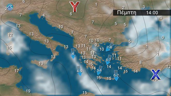 Καιρός: Λίγες νεφώσεις και εξασθενημένοι άνεμοι τις επόμενες ημέρες