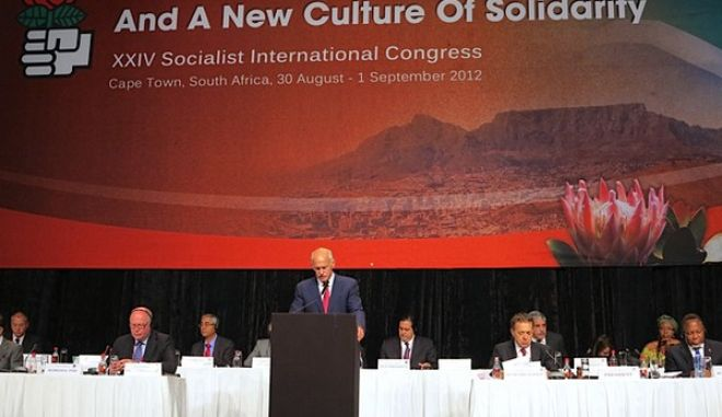 Επανεξελέγη στην προεδρία της Σοσιαλιστικής Διεθνούς ο Γ. Παπανδρέου την Πέμπτη 30 Αυγούστου 2012, στις εργασίες του 24ου Συνεδρίου που διεξάγεται στο Κέιπ Τάουν της Ν. Αφρικής.