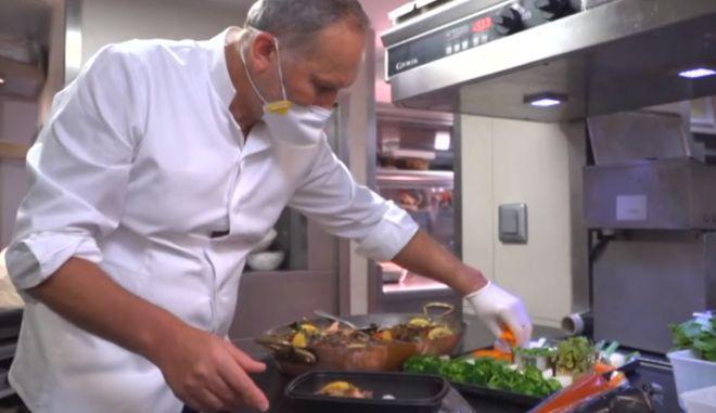 Κορονοϊός: Διάσημοι Γάλλοι σεφ μαγειρεύουν για γιατρούς και νοσηλευτές