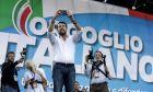 Ο Ματέο Σαλβίνι σε συγκέντρωση του κόμματός του