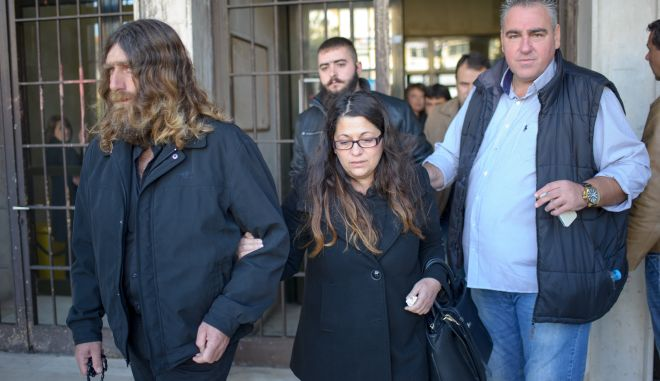 Δίκη στο Τριμελές Εφετείο Πλημμελημάτων Ιωαννίνων για την υπόθεση των ευθυνών του προσωπικού της Γαλακτοκομικής Σχολής σε σχέση με τα βασανιστήρια που υπέστη ο φοιτητής Βαγγέλης Γιακουμάκης. Στο εδώλιο του κατηγορουμένου, ο πρώην διευθυντής της Σχολής, η υπεύθυνη της Εστίας, αλλά και ο πρώην υπουργός και βουλευτής Χρήστος Μαρκογιαννάκης. (EUROKINISSI/ΛΕΩΝΙΔΑΣ ΜΠΑΚΟΛΑΣ)